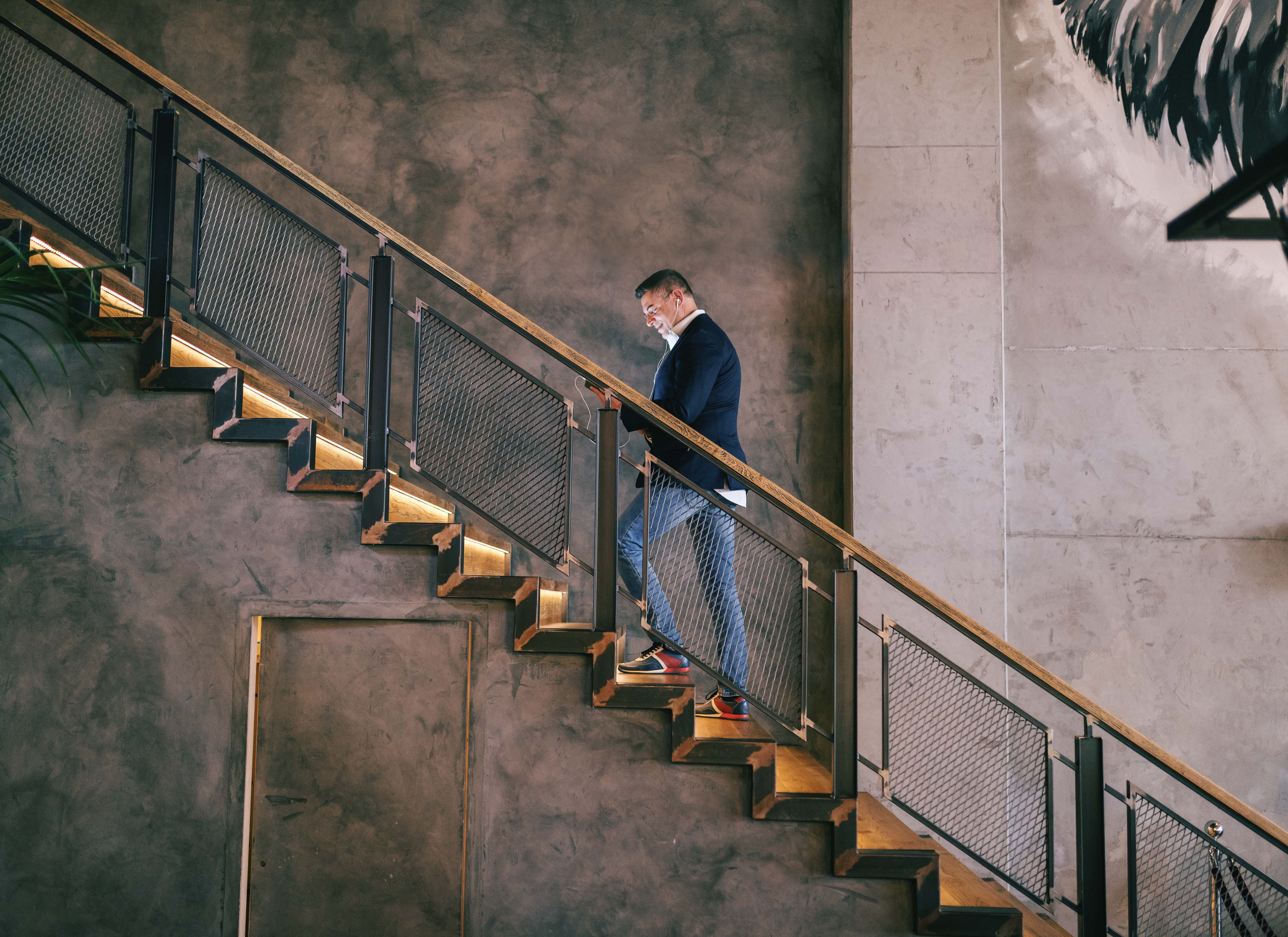 Taking a short break to climb a couple flights of stairs or chat at the water cooler can help us reengage at work. (Dusan Petkovic/Shutterstock)