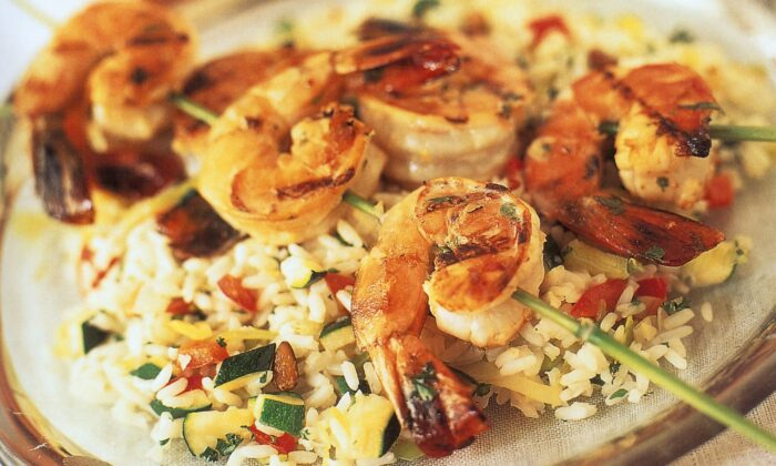 Shrimp gets a Thai twist in this recipe when marinated. (Jonelle Weaver/TNS)