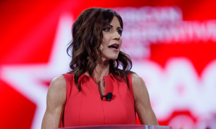 South Dakota Gov. Kristi Noem speaks during the Conservative Political Action Conference in Orlando, Fla., on Feb. 27, 2021. (Octavio Jones/Reuters)