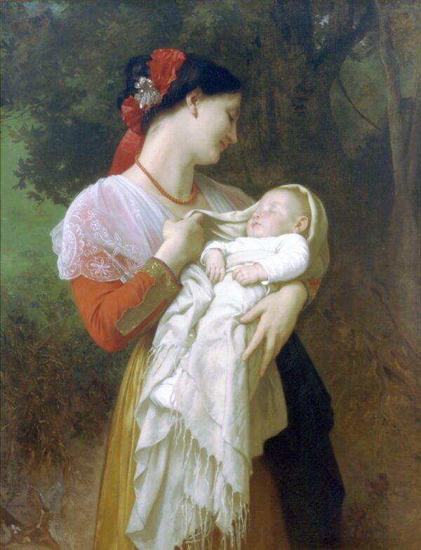maternal admiration by bouguereau
