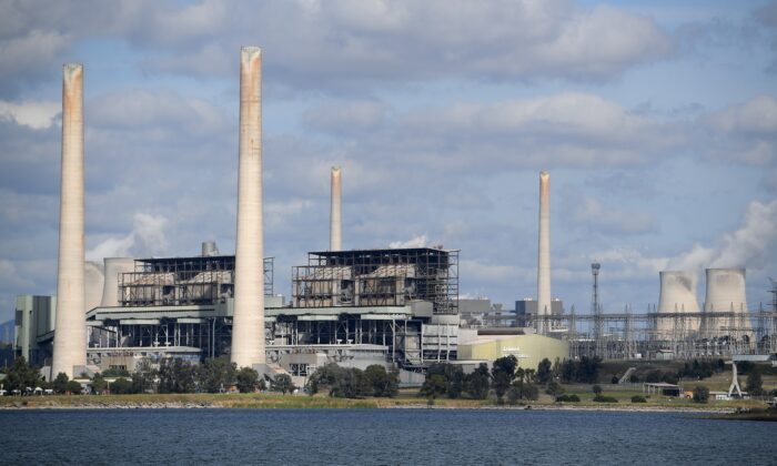 A general view of Liddell power station in Muswellbrook, in the NSW Hunter Valley region on April 22, 2018. (AAP Image/Dan Himbrechts)
