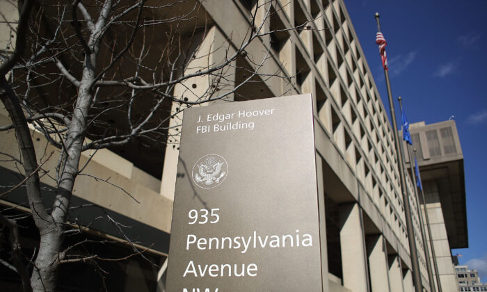 The FBI headquarters is seen in Washington on Feb. 2, 2018. (Mark Wilson/Getty Images)