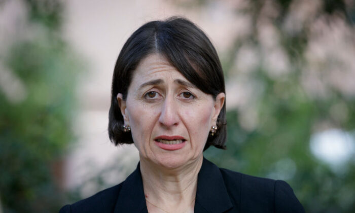 New South Wales PremierGladysBerejiklian speaks at a press conference before receiving the AstraZeneca vaccine at at St George Hospital in Kogarah on March 10, 2021 in Sydney, Australia. (Brook Mitchell/Getty Images)