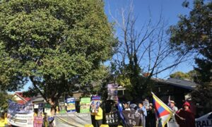 New Adelaide Chinese Consulate Protested by Dissidents and Locals
