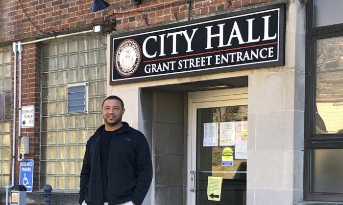 In January 2020, Chris Frye was sworn in as the first black, Republican and youngest mayor to ever hold the seat of this predominantly white, predominantly Democratic city. (Salena Zito)