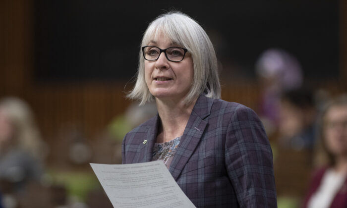 Minister of Health Patty Hajdu responds to a question during Question Period in the House of Commons in Ottawa, Canada, on Dec. 7, 2020. (Adrian Wyld/The Canadian Press)