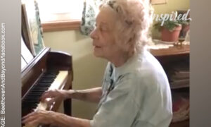 104-Year-Old Music Teacher Playing Beethoven