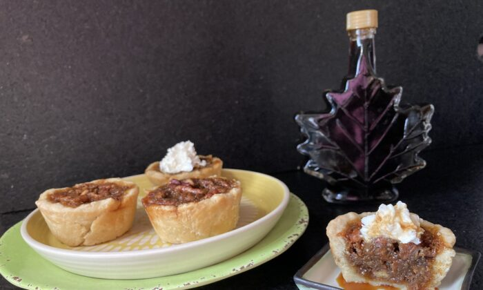 Buttery, nutty, and drop-dead decadent, these mini pies are all a pecan pie should be. (Ari LeVaux)