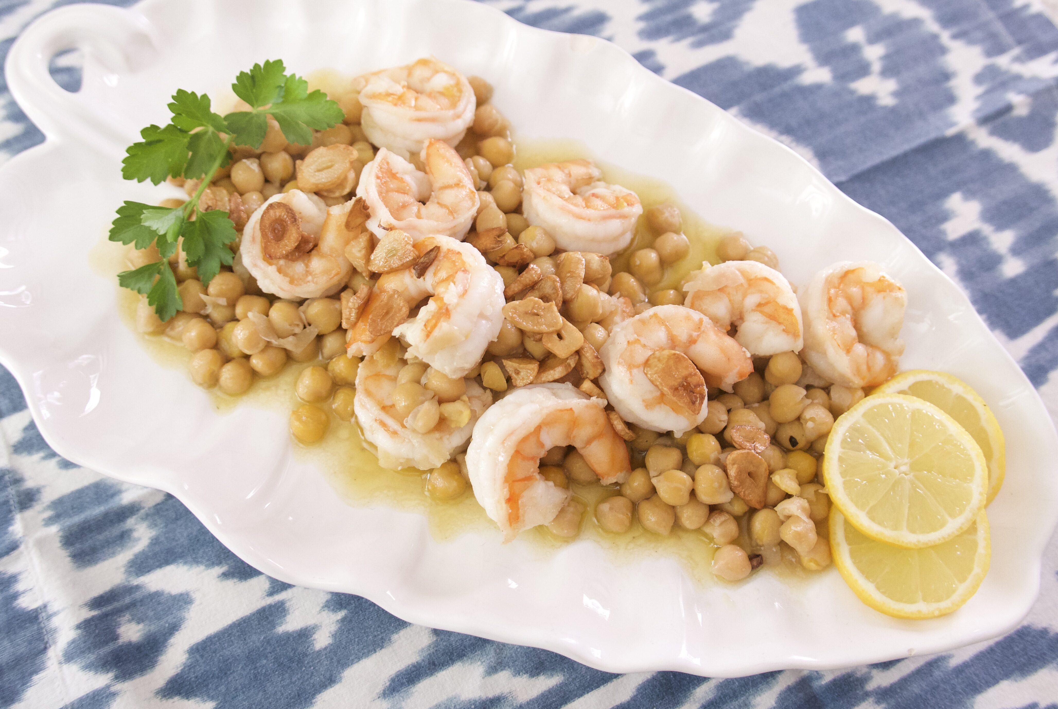 shrimp with chickpeas