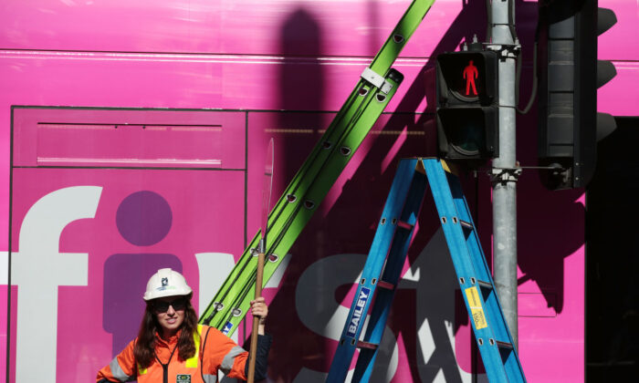 Female traffic light signals are installed at the intersection of Swanston and Flinders streets on March 7, 2017 in Melbourne, Australia. (Stefan Postles/Getty Images)