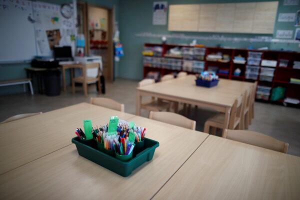 A primary school in the Paris suburbs amid the coronavirus disease (COVID-19) outbreak