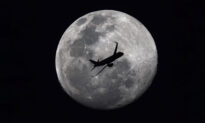Photographer Shooting Full Moon Accidentally Snaps Passenger Jet Flying Across Silvery Lunar Sphere