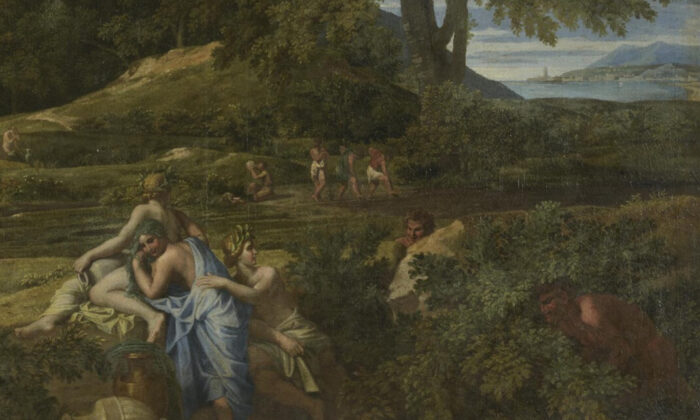 "Detail from ""Landscape with Polyphemus,"" c. 1649, by Nicolas Poussin. Oil on canvas, 59 inches by 77.9 inches. Hermitage Museum, Saint Petersburg. (Public Domain)"