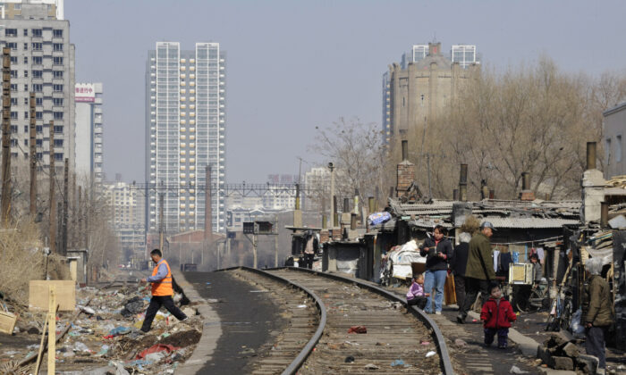 Low-rent apartments in Shenyang City of Liaoning Province, China, on March 11, 2009. (China Photos/Getty Images)