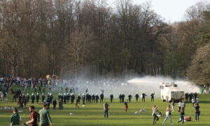 Police Disperse Thousands at Belgian April Fool Party