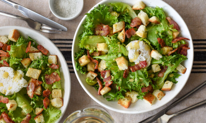 This salade-repas—a meal-sized salad—is standard French bistro fare, easily recreated in your own kitchen. (Audrey Le Goff)