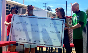 Celebrities Donate Big Check to LA's Tiny Home Village for the Homeless