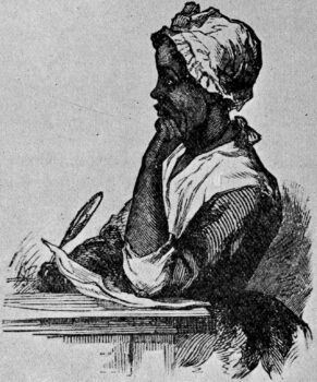 "A sketch of Phillis Wheatley in the 1893 book ""Women of Distinction"" by Lawson A. Scruggs. (Public domain)"