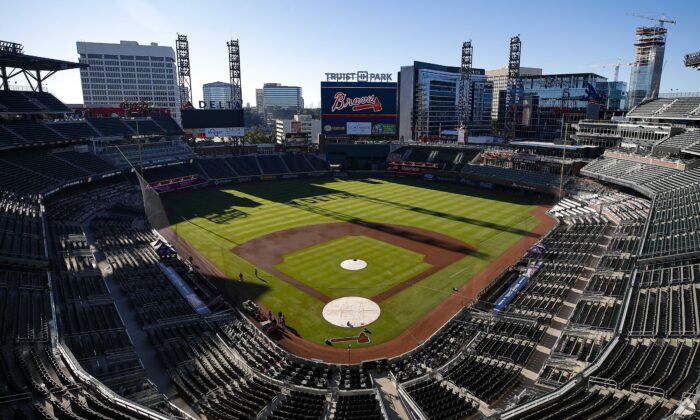 A general view of Truist Park prior in Atlanta, Ga., on Sept. 30, 2020. In response to Georgia's new voting law, Major League Baseball announced that it will move it's All-Star Game from the park. (Todd Kirkland/Getty Images)