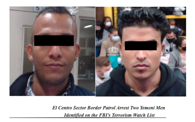 Two Yemeni men on the FBI's terror watchlist arrested by Border Patrol in separate incidents in January and March 2021. (CBP)