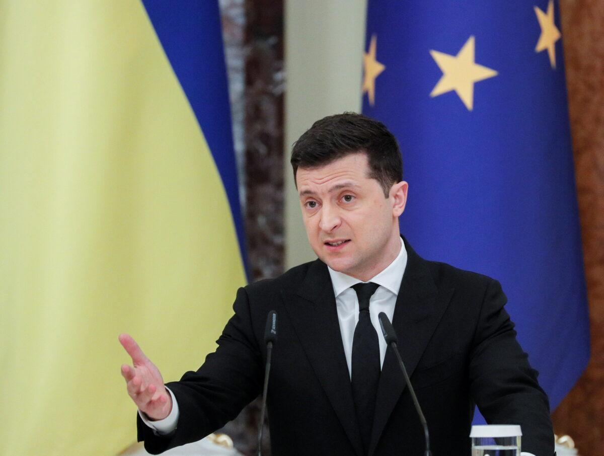 Ukrainian President Zelenskiy meets European Council President Michel in Kyiv