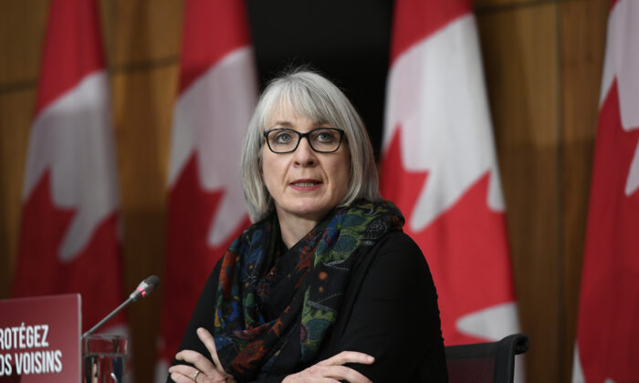 Minister of Health Patty Hajdu speaks during a news conference on the COVID-19 pandemic in Ottawa, Canada, on Dec. 4, 2020.  (Justin Tang/The Canadian Press)