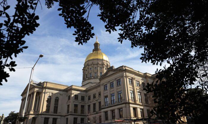 The Georgia State Capitol in Atlanta on Jan. 6, 2021. (Michael M. Santiago/Getty Images)