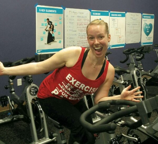 Natalia, a certified spin instructor and personal trainer