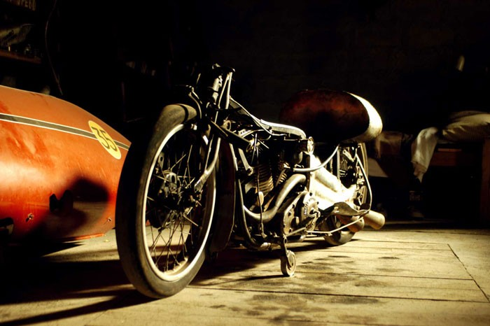 """1920 1000cc Indian motorcycle in """"The World's Fastest Indian."""" (Magnolia Pictures)"""