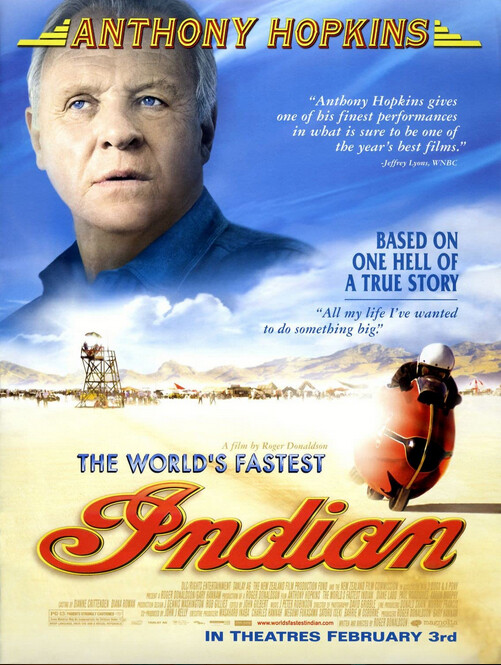 """Movie poster for """"The World's Fastest Indian."""""""