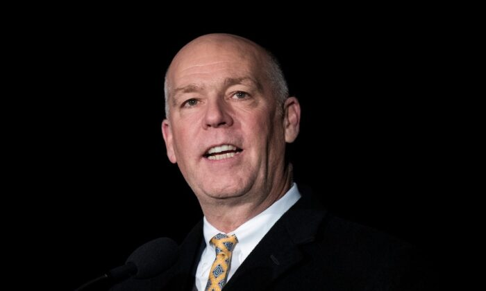 Then-Rep. Greg Gianforte (R-Mont.) on Capitol Hill in Washington, on Dec. 6, 2017. (Drew Angerer/Getty Images)