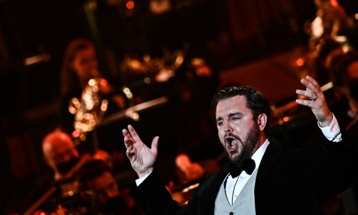Musicians, especially singers, sometimes talk about being vessels for the music. What do they mean? U.S. opera singer Michael Spyres performs during the 2021 annual French classical music awards ceremony, Victoires de la Musique Classique, at the Auditorium venue, in Lyon, France. (JEFF PACHOUD/AFP via Getty Images)