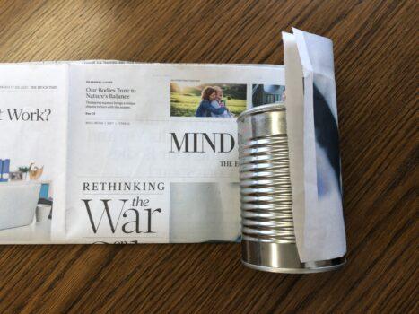 newspaper seed pot 1