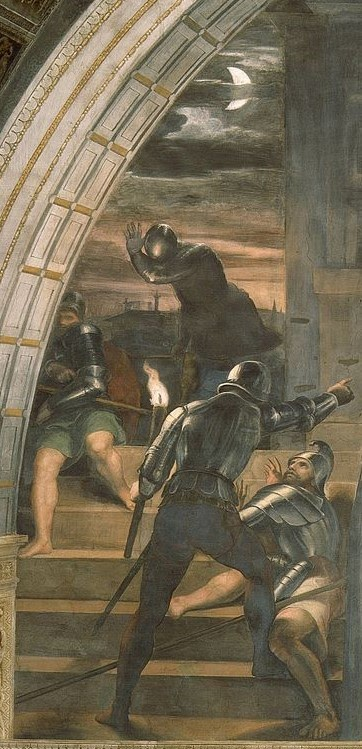 liberation of Peter by Raphael, left panel