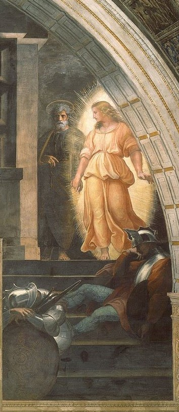 liberation of Peter by Raphael, right panel