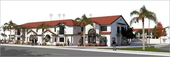 A rendering of the Econo Lodge Apartments in Anaheim, Calif. (Courtesy of the City of Anaheim)