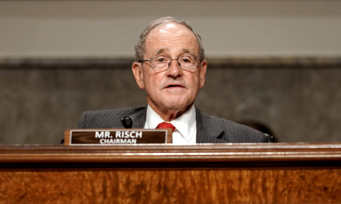 Senate Foreign Relations Committee Chairman Jim Risch (R-Idaho) speaks  as he introduces nominee for United Nations Ambassador Linda Thomas-Greenfield during her nomination to be the United States Ambassador to the United Nations, on Capitol Hill in Washington, DC, on Jan, 27, 2021. (Greg Nash/POOL/AFP via Getty Images)