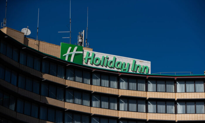 A general view of the Holiday Inn at Melbourne Airport, one of the hotels to be used for hotel Quarantine on April 08, 2021 in Melbourne, Australia. (Asanka Ratnayake/Getty Images)