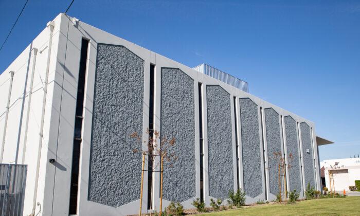 The Illumination Foundation homeless shelter in Fullerton, Calif., on April 8, 2021. (John Fredricks/The Epoch Times)