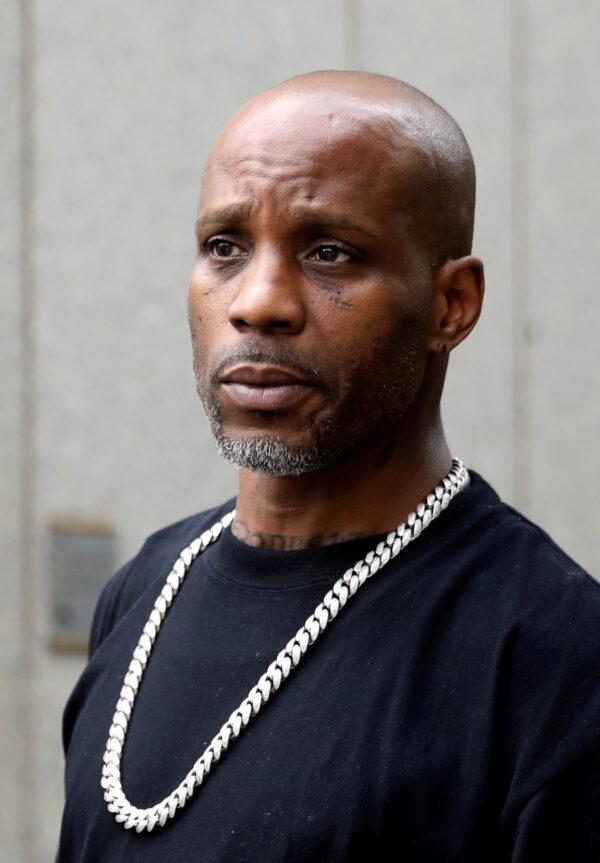 Rapper DMX exits the U.S. Federal Court in Manhattan