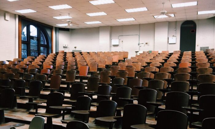 Stock image showing a college lecture hall. (Pixabay)