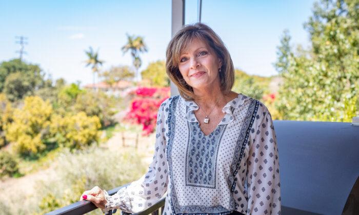 Susan Papiri at her home in La Habra Heights, Calif., on April 7, 2021. (John Fredricks/The Epoch Times)