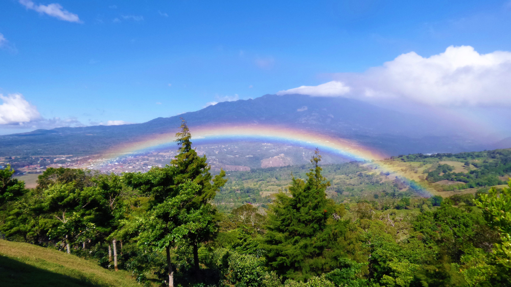 Rainbow,In,The,Mountains.,Volcano,Barú,,Boquete.,Panama.