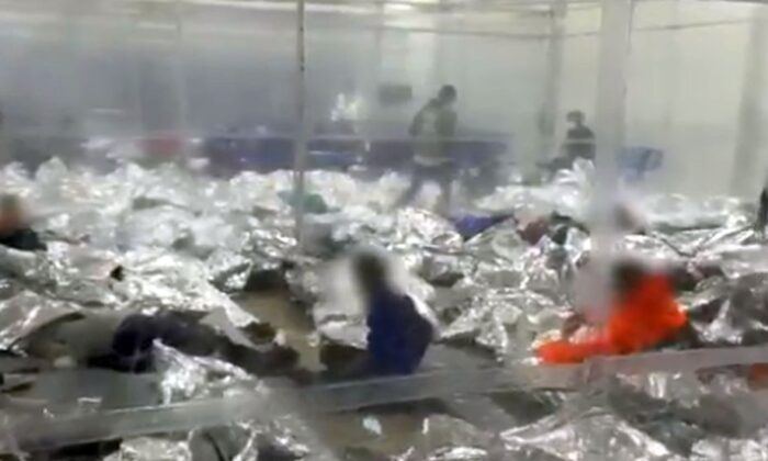 "House Minority Whip Steve Scalise (R-La.) posted video footage of numerous unaccompanied children being housed in a Donna, Texas, Border Patrol facility and said it's tantamount to ""child abuse."" (Twitter / Rep. Steve Scalise)"