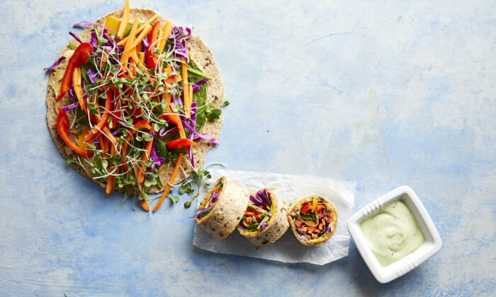 These wraps look impressive, but they're easy enough for kids to assemble themselves for a quick lunch or dinner. (Jacob Fox/TNS)