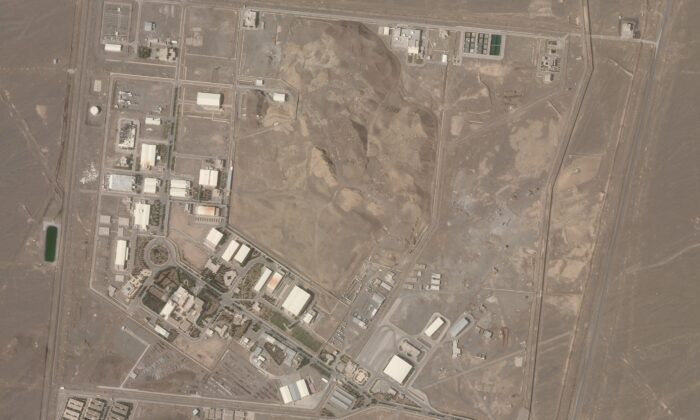 Iran's Natanz nuclear facility in a satellite photo on April 7, 2021. (Planet Labs Inc. via AP)