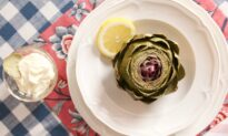Steamed Artichokes With Garlic Butter or Lemon Mayo