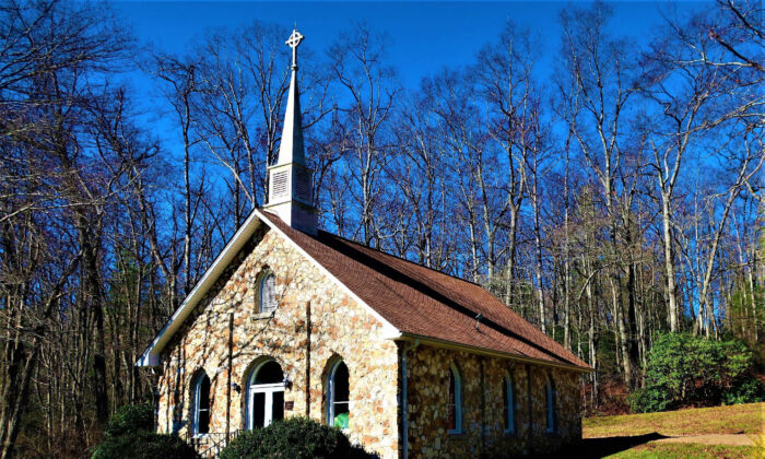 Fieldstone churches, such as the Mayberry Presbyterian Church, dot the Patrick County, Virginia, landscape. (Courtesy of Victor Block)