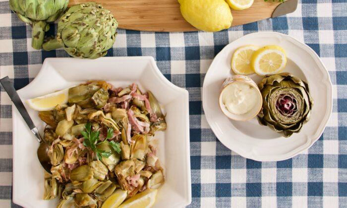 Celebrate artichoke season with these three recipes. (Victoria de la Maza)