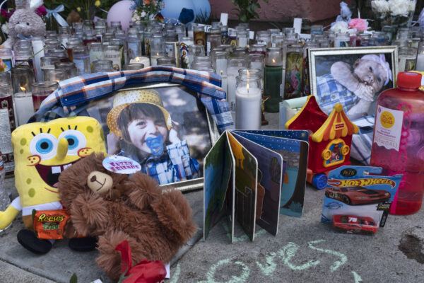 memorial for three children killed